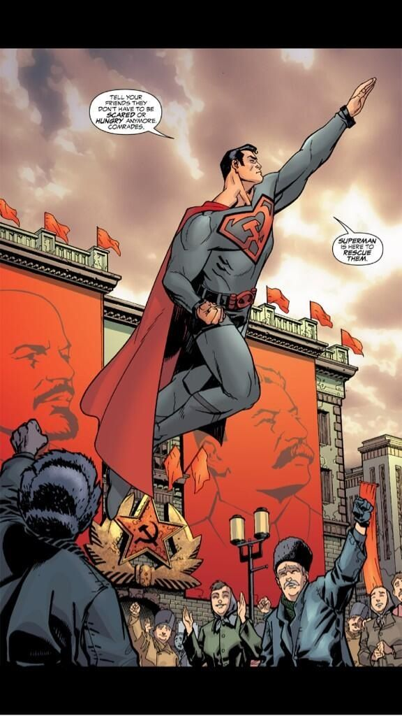 The pivotal scene from Superman: Red Son